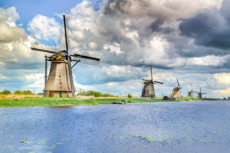 Kinderdijk, a South Holland village known for its iconic 18th-century windmills is a UNESCO World Heritage site with a unique windmill complex