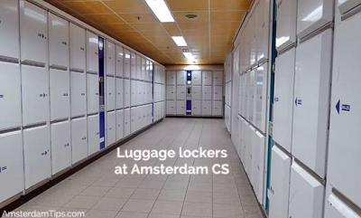 Luggage Lockers at Amsterdam Centraal Station